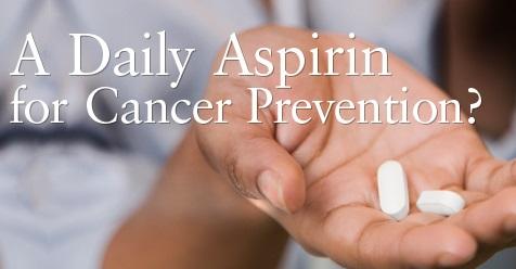 تأثیر آسپرین بر کاهش خطر مرگ و میر ناشی از بیماری سرطان